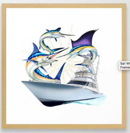 Sailfish, White Marlin, Blue Marlin, Viking fishing yacht